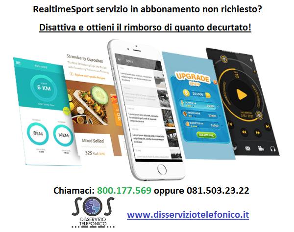 RealtimeSport servizio in abbonamento non richiesto