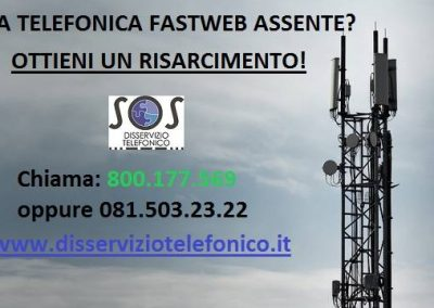 Risarcimento Fastweb per linea telefonica assente