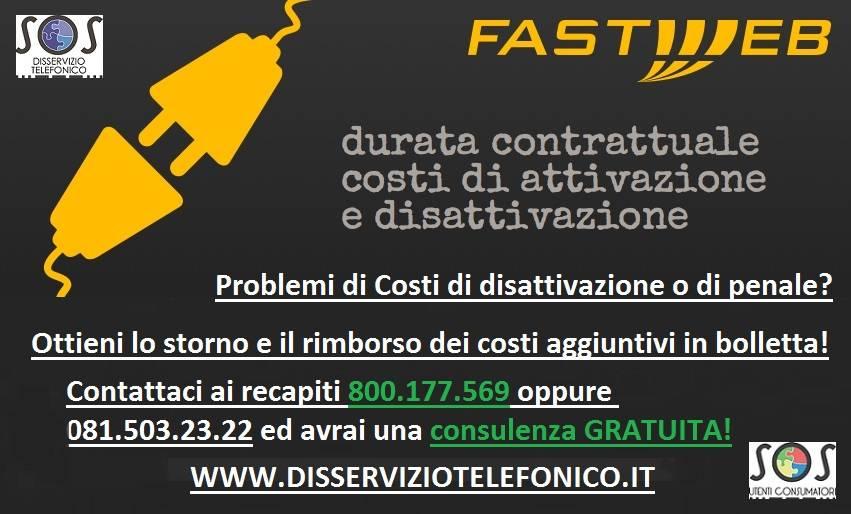 costi disattivazione fastweb