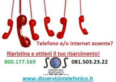 Ripristino linea telefonica e risarcimento