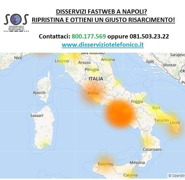 Disservizi Fastweb a Napoli