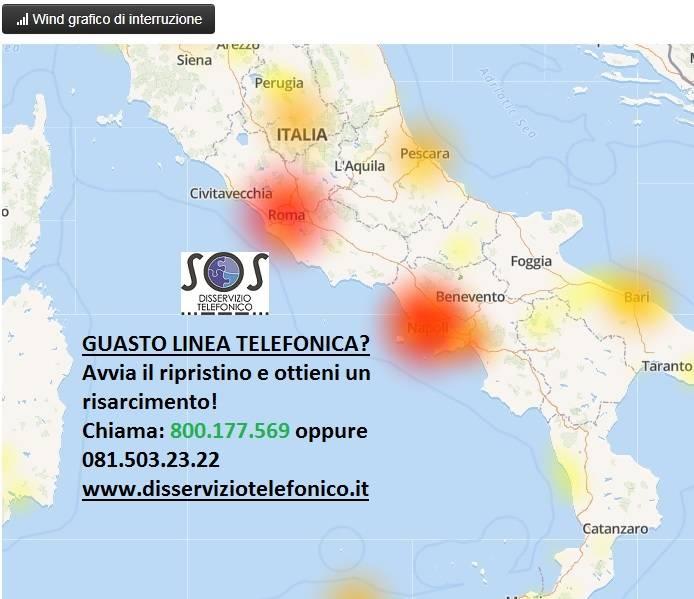 Disservizi Wind Infostrada a Napoli e Roma