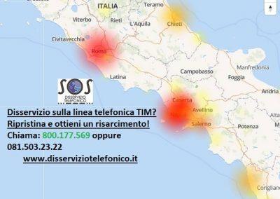 Disservizi TIM a Napoli e Roma