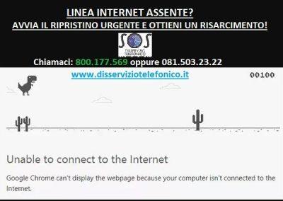 Non c'è linea internet?