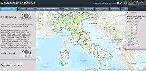 Broadbandmap strumento di copertura rete dell'AGCOM