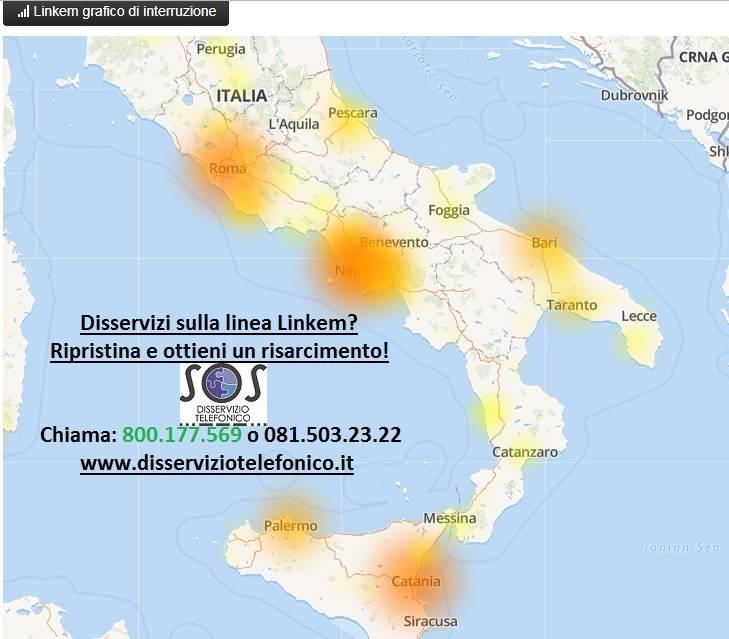 Disservizi Linkem Italia