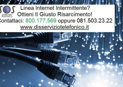 Problema internet intermittente