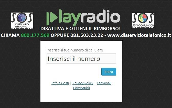 PlayRadio abbonamento non richiesto