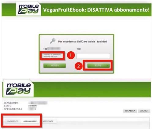 VeganFruitEbook, ecco il nuovo fantomatico abbonamento non richiesto