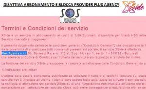 flux agency disattivare