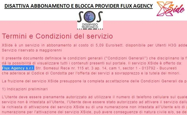 flux agency bloccare
