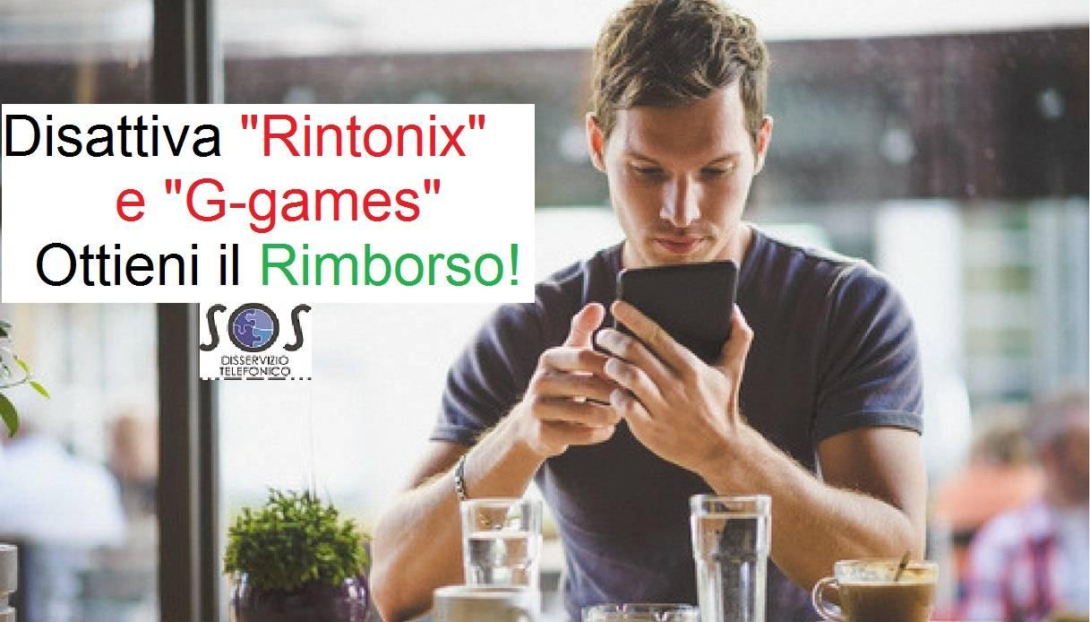 """""""Rintonix e g-games"""" Disattiva e blocca servizi"""