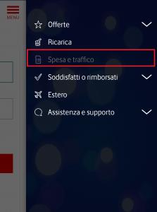 SPESE E TRAFFICO VODAFONE