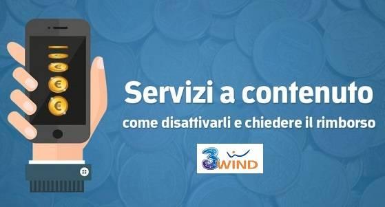 disattivazione e rimborso dei servizi in abbonamento wind